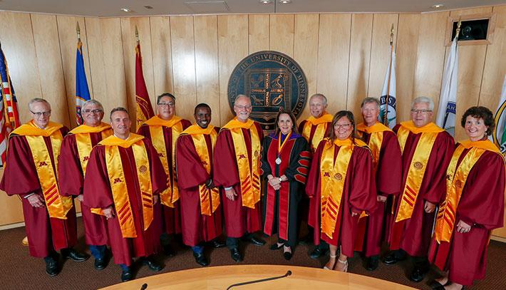 The Board of Regents and President Gabel at the President's Inauguration.